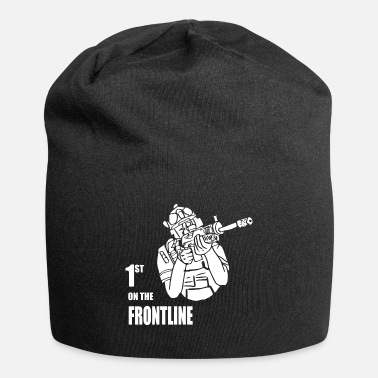Community first on the frontline white - Beanie