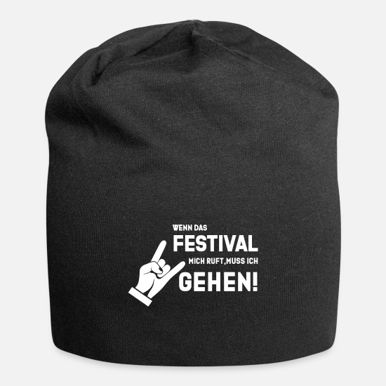 Style Of Music Caps & Hats - Festival Shirt · Open Air Party · Music Gift - Beanie black