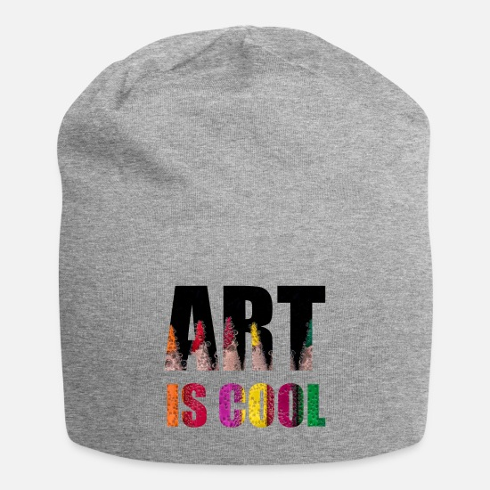 Gift Idea Caps & Hats - Art is cool - Beanie heather grey