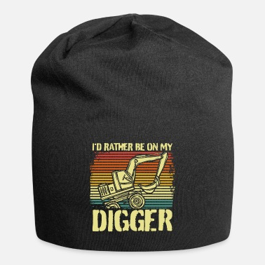 Worker Retro construction worker excavator - Beanie