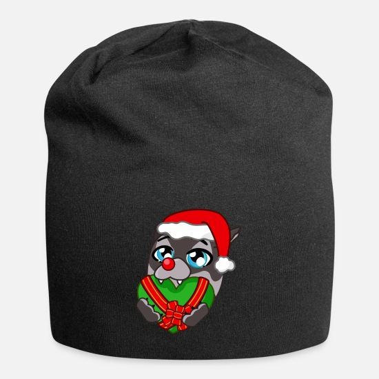 Love Caps & Hats - Red Christmas Love - Beanie black