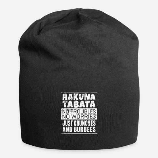 Power Caps & Hats - Hakuna Tabata Just Crunches And Burbees - Beanie black