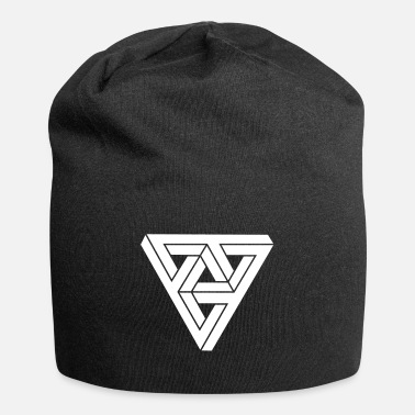 Form &amp Optical illusion Triangle Minimal Shape - Beanie