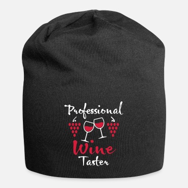 Wine Tasters 04 Professional Wine Taster 2 wine glasses of wine - Beanie