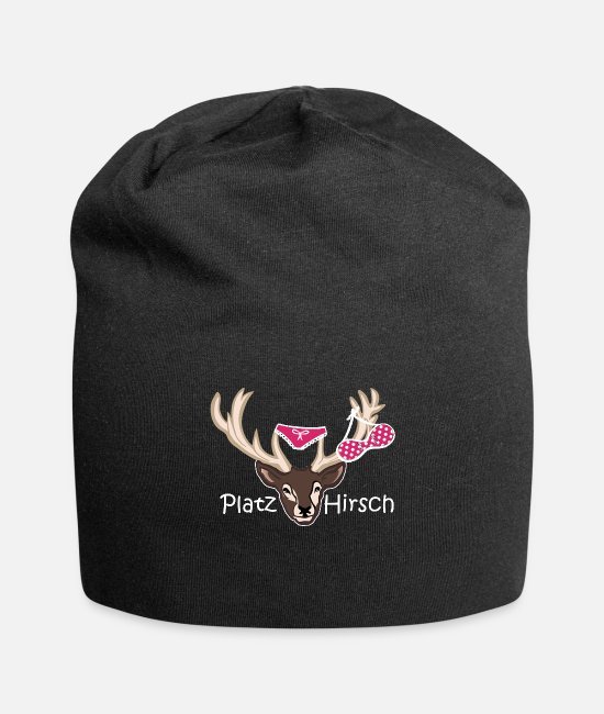 Stag Caps & Hats - Place deer birthday gift idea macho - Beanie black