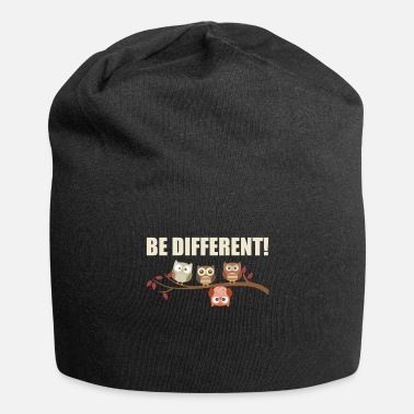 Be Different- Süße Eulen Sei Anders Geschenk-Idee - Beanie