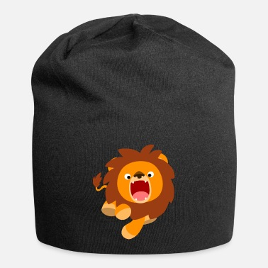 Cute Frisky Cartoon Lion by Cheerful Madness!! - Beanie