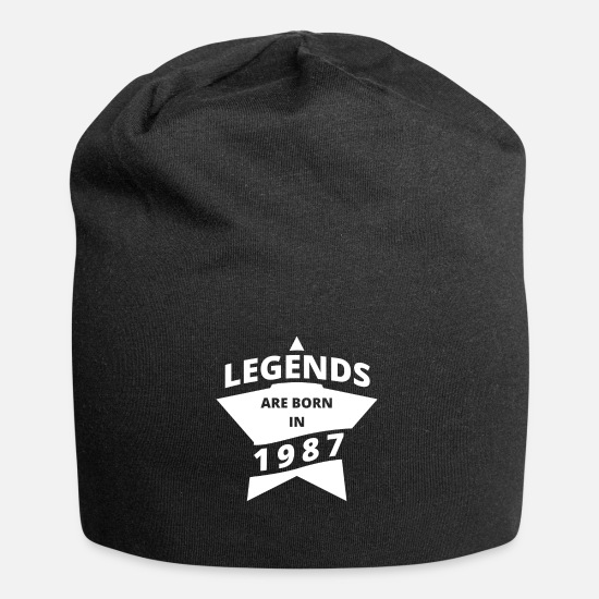 1987 Caps & Hats - Legends Shirt - Legends are born in 1987 - Beanie black