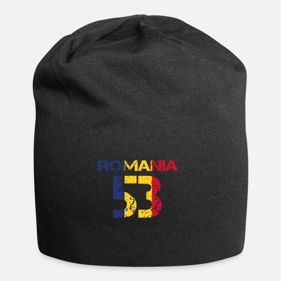 Love Caps & Hats - Football club team emm ROMANIA 53 - Beanie black
