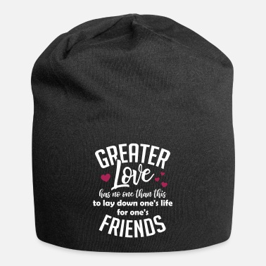 Greater love christliches christen Jesus Geschenk - Beanie