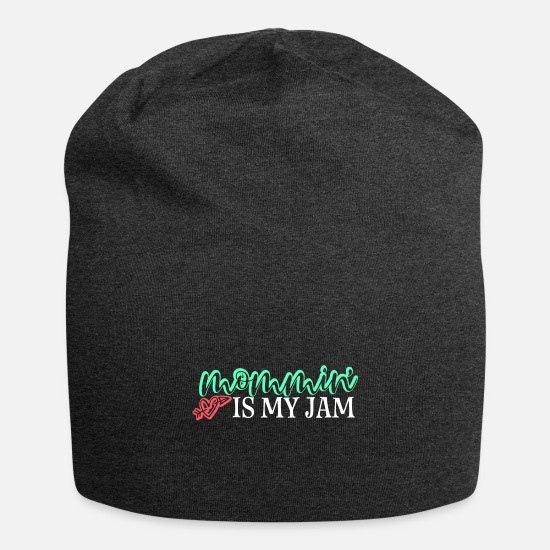 Grappig Petten & mutsen - Mommin Is My Jam Gift Mom Mother Mother's Day To - Beanie houtskool