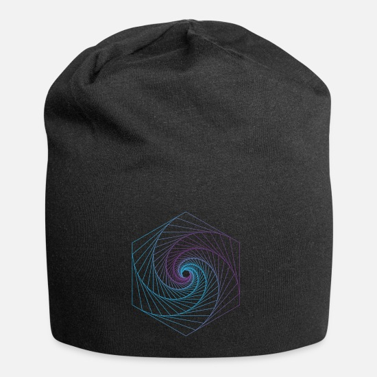 Shape Caps & Mützen - polygon color shape wave - Beanie Schwarz