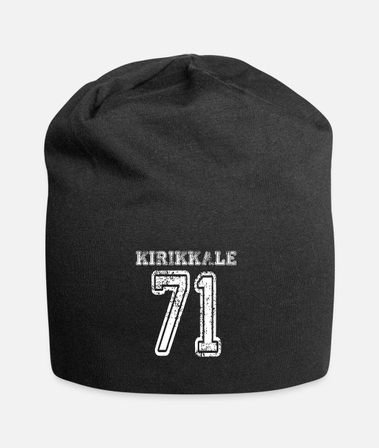 Indicator Caps & Hats - 71 Kirikkale Turkish license plate as a gift - Beanie black