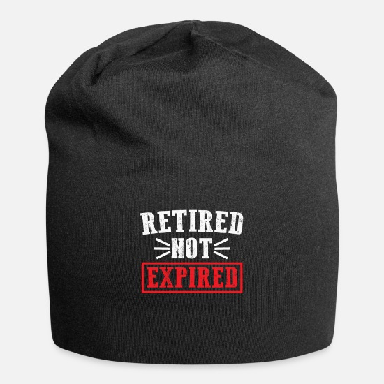 Birthday Caps & Hats - Pension, chilling, unemployed - Beanie black