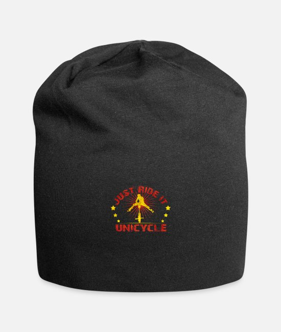 Birthday Caps & Hats - Unicycle - Beanie black