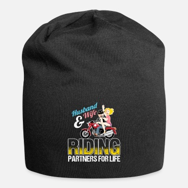 Partner Husband And Wife Riding Partners For Life - Beanie