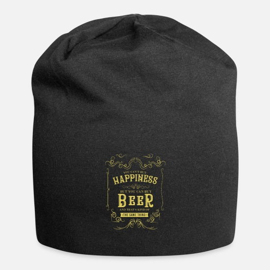 Alcohol Caps & Hats - You Can't Buy Happiness But You Can Buy Beer - Beanie black