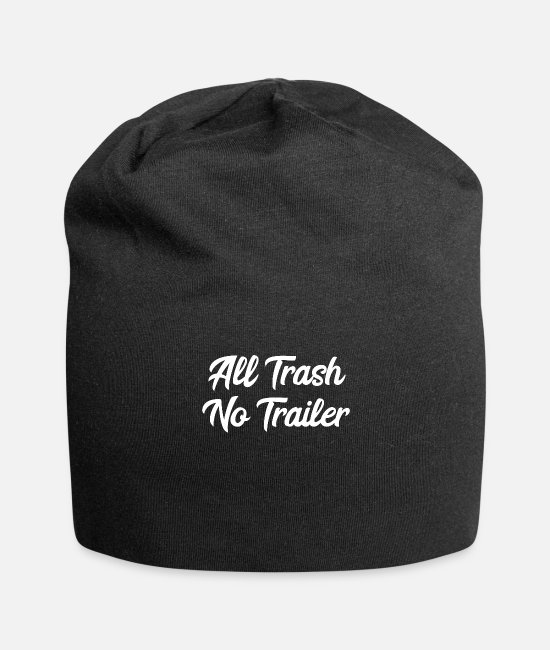 Camper Caps & Mützen - All Trash No Trailer - Beanie Schwarz