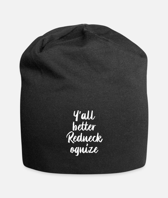 Camper Caps & Mützen - Y'all Better Redneckognize - Beanie Schwarz
