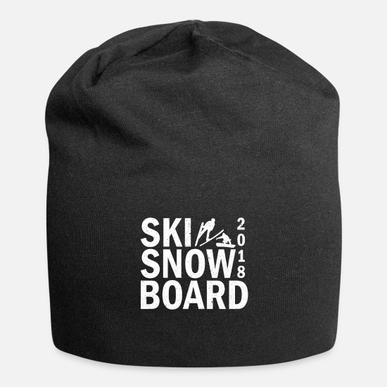 Birthday Caps & Hats - SKI SNOWBOARD Winter vacation 2018 - Beanie black