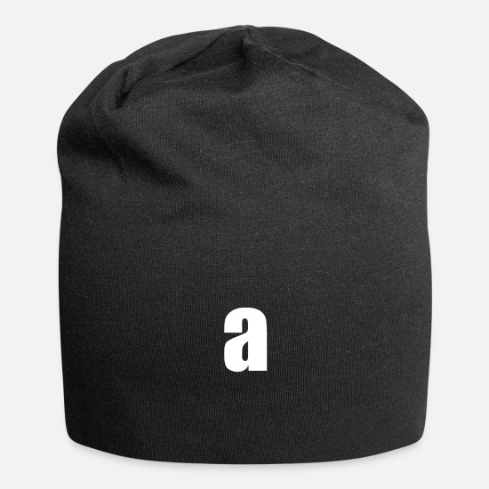 Birthday Caps & Hats - Letter a - Beanie black