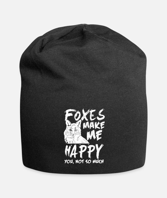 Forest Caps & Hats - Fox luck - Beanie black