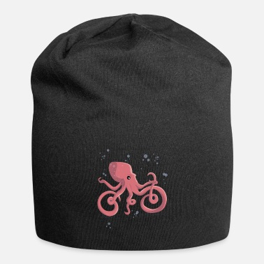 Octopus Octopus rides a bicycle - Beanie