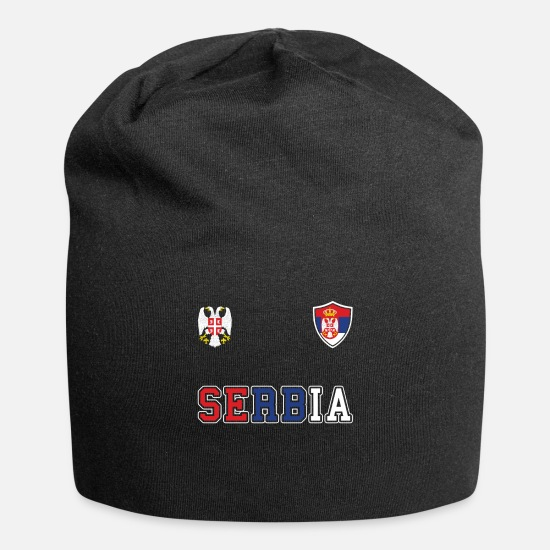 Gift Idea Caps & Hats - Serbia country - Beanie black