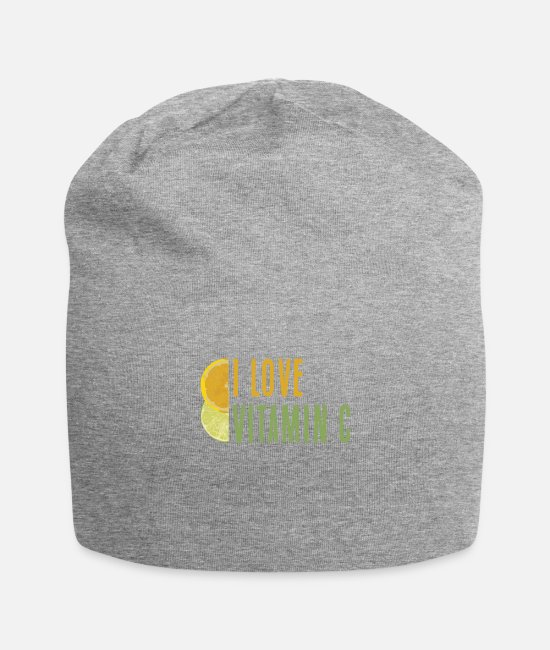Bless You Caps & Hats - Vitamin C Gift Lemon Lime Orange Healthy - Beanie heather grey