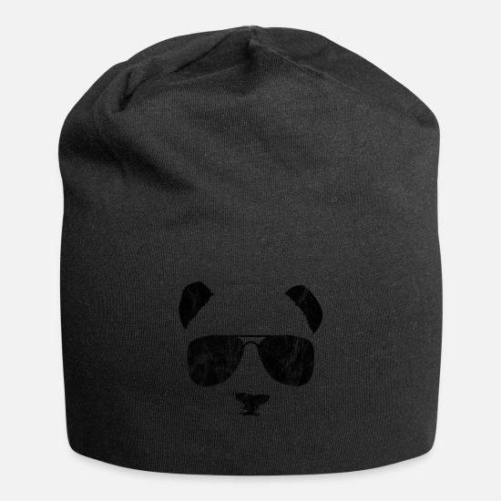 Gift Idea Caps & Hats - Panda bamboo shades animal - Beanie black
