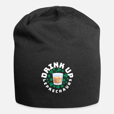 Fourleaf Clover St Patricks Day Leprechaun, Clover, Whiskey Drink - Beanie