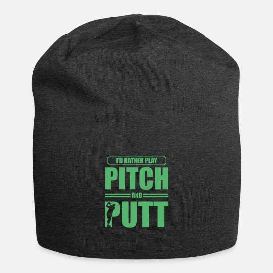 Golf Ball Caps & Hats - Putter Pitch and Putt Golf Pitch & Putt Pitching - Beanie charcoal grey