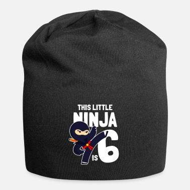 Ninja This Little Ninja Is 6 Geburtstag Birthday Six - Beanie
