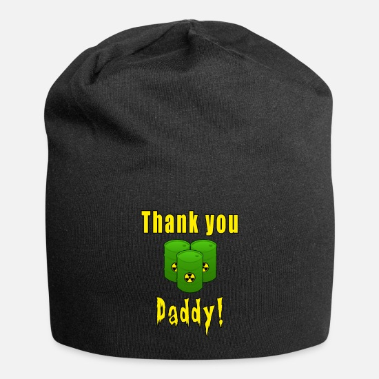 Symbol  Caps & Hats - Thank you daddy - Beanie black