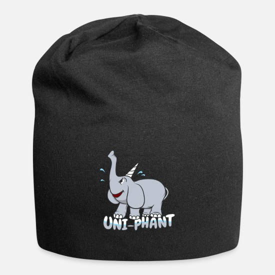 "Love Caps & Hats - Elephant Unicorn Art ""Uni-phant"" - Beanie black"