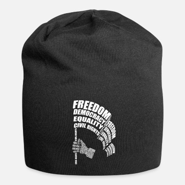 Civil Rights Civil Rights Word Cloud graphic, March for - Beanie
