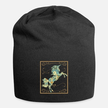 Love You Unicorn Gift Mythical Creature Cool Colorful Flower Father - Beanie