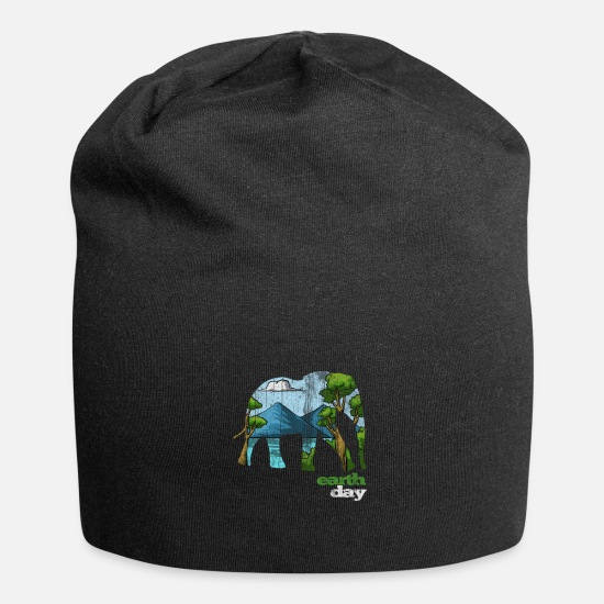 Earth Day Kepsar & mössor - Earth Day - Earth Day - Beanie svart