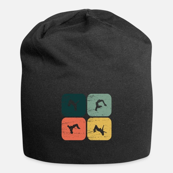 Strong Caps & Hats - Retro Backflip Parkour Freerun Sport Gift - Beanie black