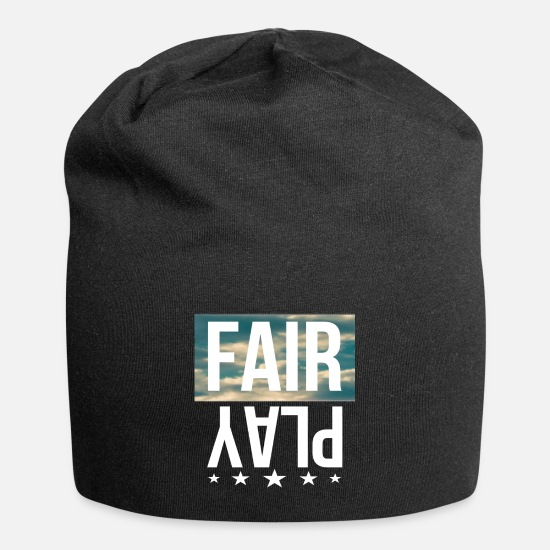 Fair Caps & Mützen - Fair Play - Beanie Schwarz