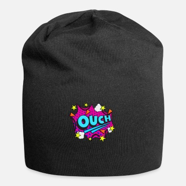Comicstyle Ouch Comic Comicstyle Cartoon Speech Bubble Nerd - Beanie