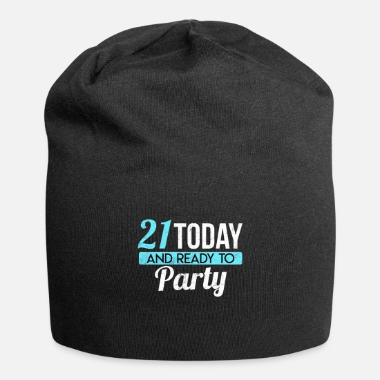 21st Birthday Caps & Hats - Party B-Day - 21st Birthday Gift Idea - Beanie black