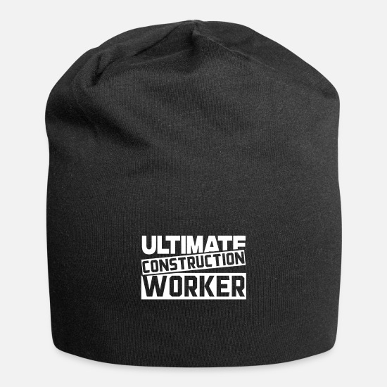 Construction Caps & Hats - Construction worker Construction worker Construction worker Construction worker - Beanie black