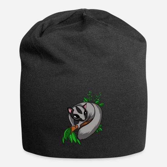 Sugar Glider Lover Gift Caps & Hats - Cute Sugar Glider Pet - Beanie black