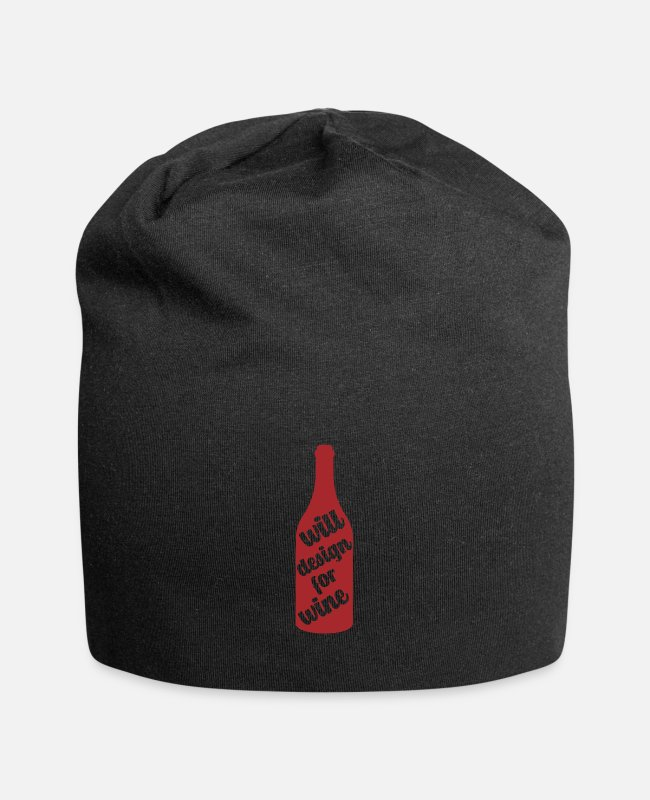 Christmas Caps & Hats - Funny wine saying designer - Beanie black