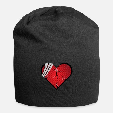 Broken Heart Valentines Day Sad heart broken valentines day gift - Beanie