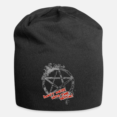 Don't Mess With The Witch - Hexe - Pentagramm grau - Beanie