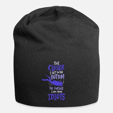 Closer To The Bottom Diving Diver Diving Diving - Beanie