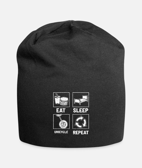 Bicycle Caps & Hats - Unicycle Unicycle Unicycling - Beanie black