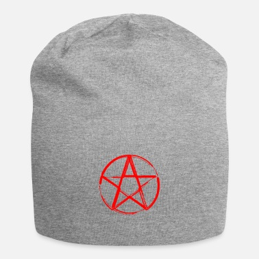 Pentagram devil symbol blood red Satan Lucifer - Beanie